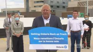 Beirut explosion: Ontario Premier Ford announces $2 million in aid for Beirut relief efforts (00:40)