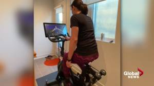 Peloton indoor cycling proving to be a popular pandemic activity (02:18)