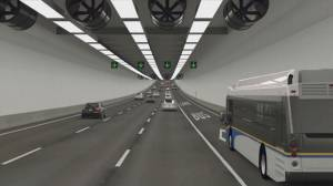 NDP government criticized for heavily-redacted report on Massey Tunnel replacement (02:04)