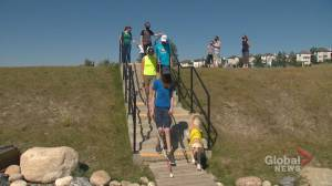Alberta parents rally for more school support for kids who are visually impaired