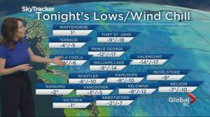 B.C. evening weather forecast: Feb 18