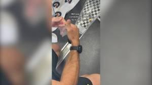 Australian Olympian uses condom to repair kayak at Tokyo Olympics (00:43)