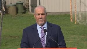 John Horgan responds to accusations that his calling an early election was a 'power grab'