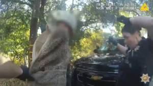 Body camera captures California cop's surprised reaction to hidden lizard