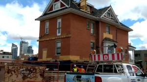 'Beautiful' 123-year-old Calgary home moved as part of redevelopment project (01:20)
