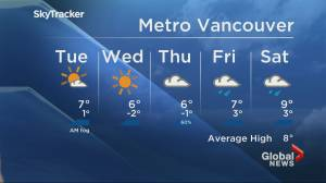 B.C. evening weather forecast: Feb 17