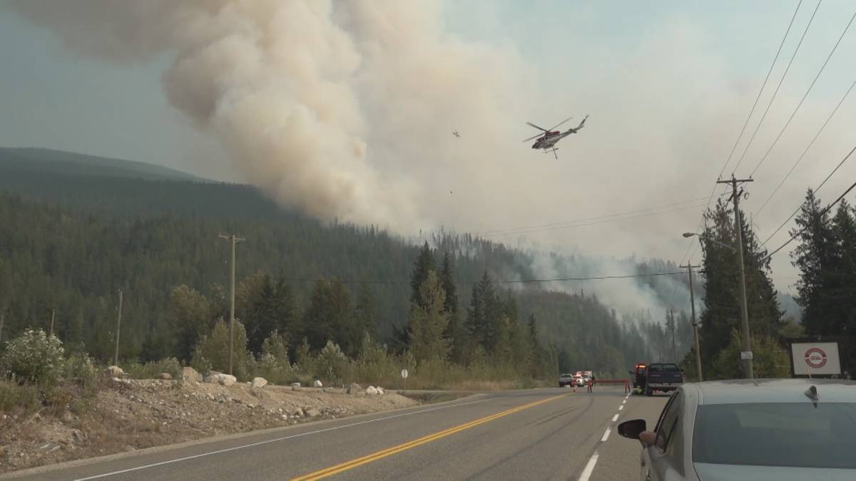 Click to play video: 'Sicamous wildfire forces evacuations'