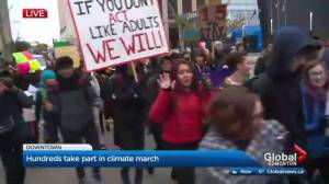 Students march down Jasper Ave in climate rally