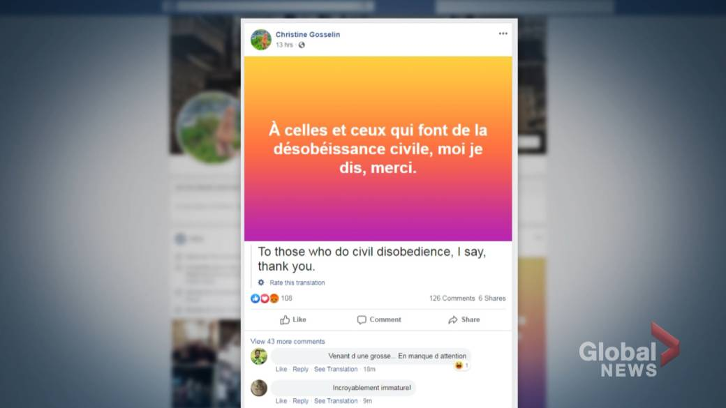 Montreal councillor's Facebook posting sparks outrage