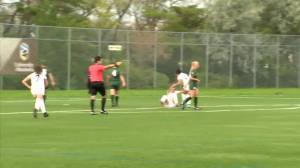 Bisons knock off Regina 3-1 in women's soccer opener (01:11)