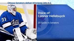 RAW: Winnipeg Jets Connor Hellebuyck Interview – Apr. 12 (02:50)