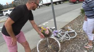 Ghost bike memorial vandalized in Kelowna (01:43)