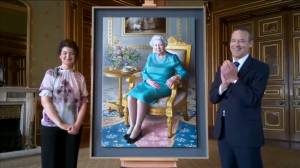 Queen Elizabeth watches online as new portrait unveiled