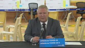 Ontario Premier Ford defends vaccine rollout, says it's simple to book appointment (04:50)