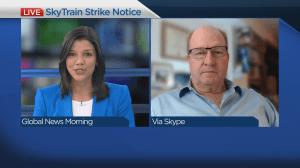 SkyTrain worker's union issue strike notice