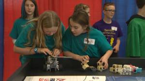 20 teams of grade four and eight kids spent battling robots in N.B.