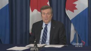 Tory calls on Ontario government for emergency funding for Toronto-area municipalities