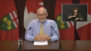 Ontario's top doctor provides guidance on COVID-safe Halloween events (00:38)