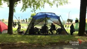 Makeshift camps for the homeless popping up around Montreal