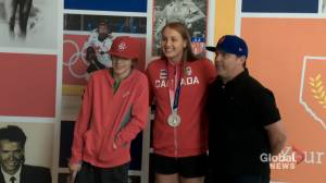 Red Deer swimmer enjoys homecoming after capturing Olympic silver (01:43)