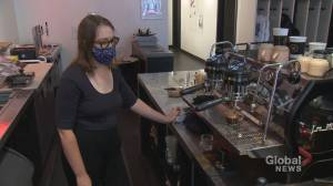 Not all Calgary business owners are ready to ditch the mask (01:50)