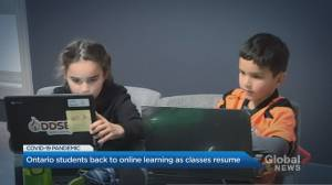 Ontario students back to online learning as classes resume (01:58)