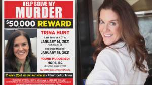 Family of murdered B.C. woman offers reward (02:23)