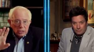 U.S. election: Bernie Sanders seems to predict election outcome during appearance with Jimmy Fallon (00:56)