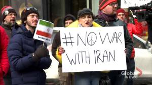 Anti-war groups take to Montreal streets to denounce violence and escalated tension between the U.S. and Iran