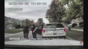 York police release video of father arrested after allegedly trying to pick up his children while impaired (00:50)