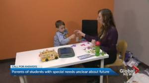 Parents of Ontario special needs students claim they've been given no guidance for new year (01:54)