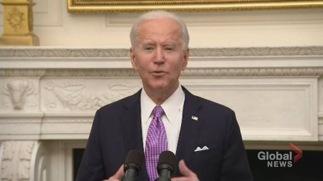 Click to play video 'Coronavirus: Biden says progress from his COVID-19 plan 'will take time to measure''