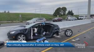 Man in his 30s in critical condition after chain reaction crash in Whitby (02:00)