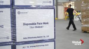 Free non-medical face masks not yet available at Alberta drive-thurs