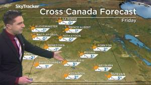 Above seasonable: Nov. 26 Saskatchewan weather outlook (02:36)
