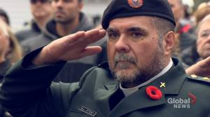 People in Halifax paid their respects at Remembrance Day service (02:03)