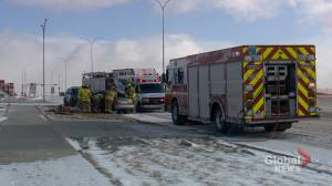 Slippery roads in Calgary lead to traffic collisions, delays