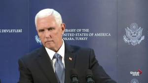 Mike Pence says Turkey, U.S. agree to ceasefire in Syria