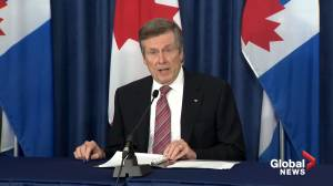 Toronto Mayor Tory addresses 'Justice for Regis' march in Toronto, George Floyd protests in U.S.