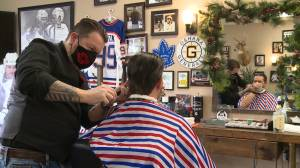 Men in Durham growing mustaches for Movember (02:06)