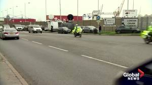 Private ambulances move remains of UK truck victims from Tilbury Docks