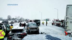 Multi-vehicle crash on Hwy. 400 amid snow squalls (01:44)