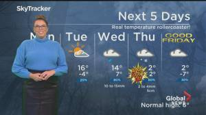 Global News Morning weather forecast: March 29, 2021 (01:49)