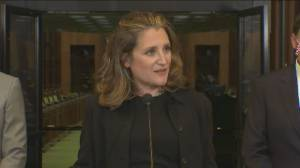 'It's about time': Freeland speaks on being Canada's first female finance minister