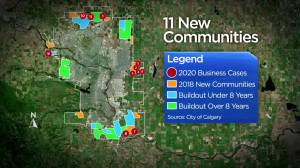 City of Calgary administration recommends council withhold approval for 11 new communities (02:08)