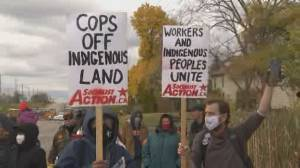 Protests heat up over Caledonia, Ont. land rights dispute (02:34)