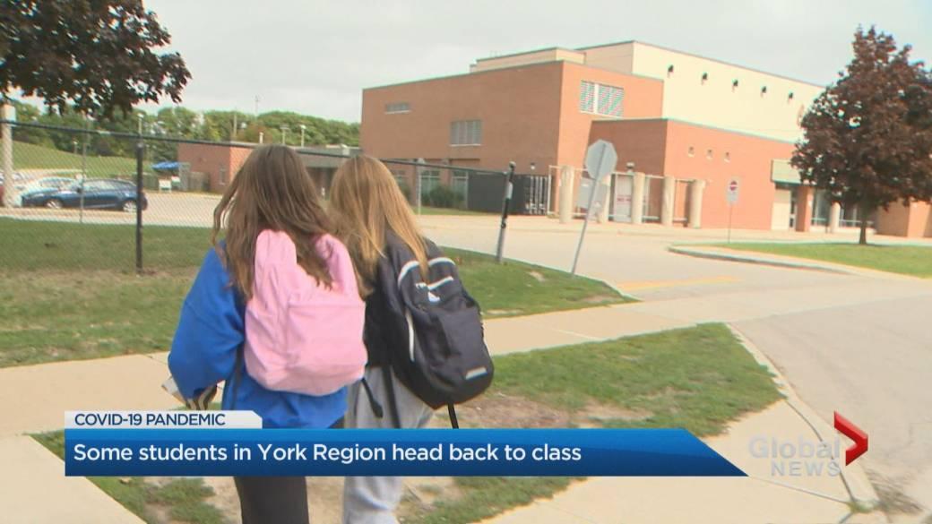 It Was A Challenging Day Students Staff Return To Schools In York Region Toronto Globalnews Ca