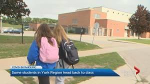 Coronavirus: Staff and students return to school in York Region (01:40)