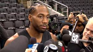 Kawhi Leonard on his return to Toronto: 'I'm excited to get my ring'