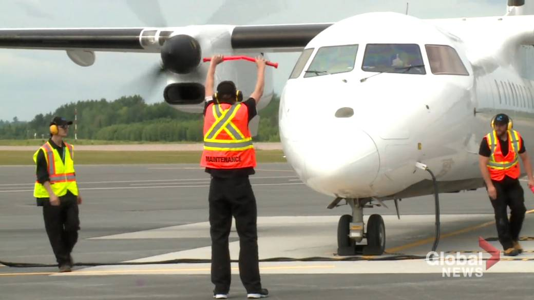 Click to play video: 'New airline service out of Fredericton airport signals beginning of COVID-19 recovery'